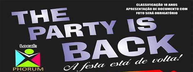 THE PARTY IS BACK